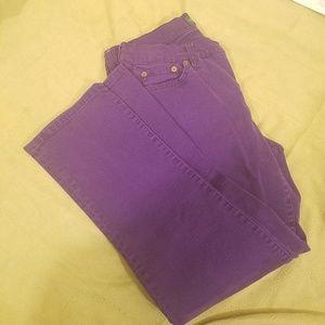 Ralph Lauren Purple Modern Straight Leg Jeans 10P